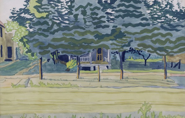 Picture 1916, Charles Ephraim Burchfield, Late Afternoon