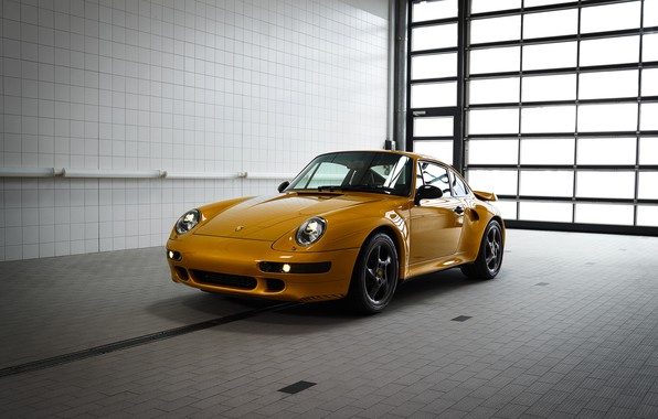 Picture yellow, Porsche, body, 993, 911 Turbo