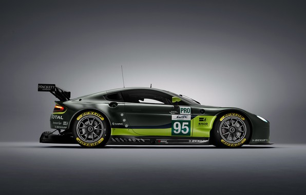 Photo wallpaper Aston Martin, Vantage, Wheel, Machine, Drives, Sport, GTE, Spoiler, V8