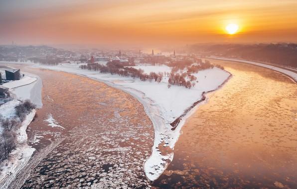 Picture winter, Lithuania, Kaunas