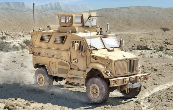Picture 4x4, APC, MRAP, minestone zastosowany, International MaxxPro, mine resistant ambush protected, protected from undermining and …