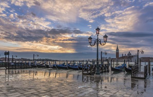 Picture Italy, lantern, Venice, channel, gondola
