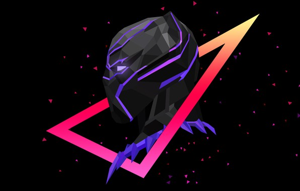 Picture Minimalism, Marvel, Panther, Black Panther