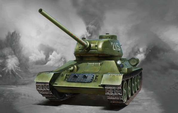 Picture USSR, T-34, The red army, T-34/85, 85 mm, The main tank, C instrument, The massive …