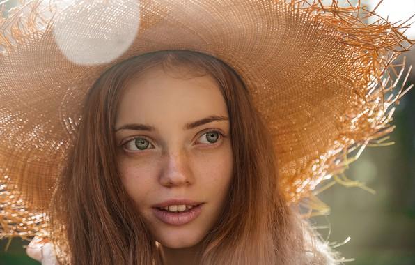 Picture smile, Girl, hat, freckles, Yuri Semyonov, Anna Pankova