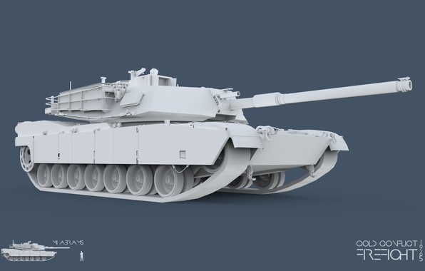 Picture 3ds max, Abrams, tank, CC Firefight 1985, keyshot, cold conflict, Firefight 1985