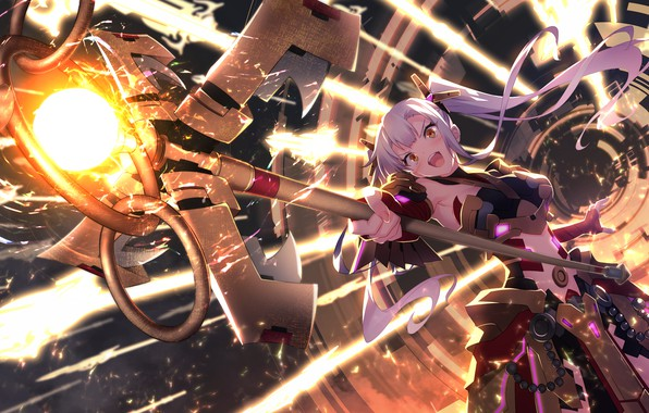 Picture girl, staff, games, anime, art, The World's End Fallen Star