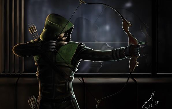Picture Art, Green Arrow, Arrow, Stephen Amell, Emerald Archer