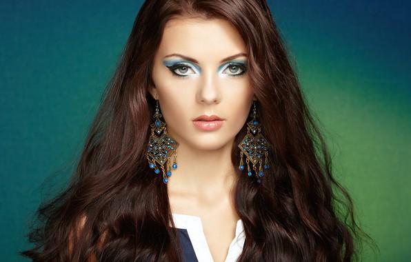 Picture look, girl, face, portrait, earrings, makeup, beautiful, Oleg Gekman