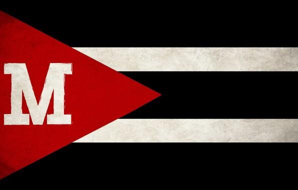 Picture red, white, black, grunge, flag, State, Maverick