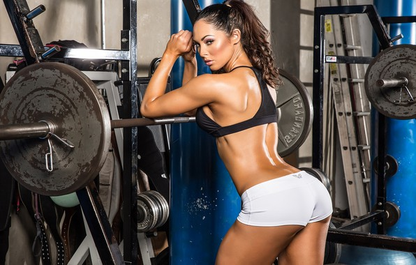 Picture back, fitness, muscle, rod, Back, pose, workout, gym, fitness, gym, weight