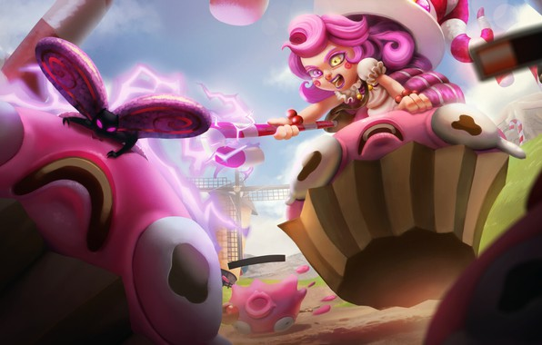 Picture the game, fantasy, art, League Of Legend, Lu Lu fanart (League Of Legend), The