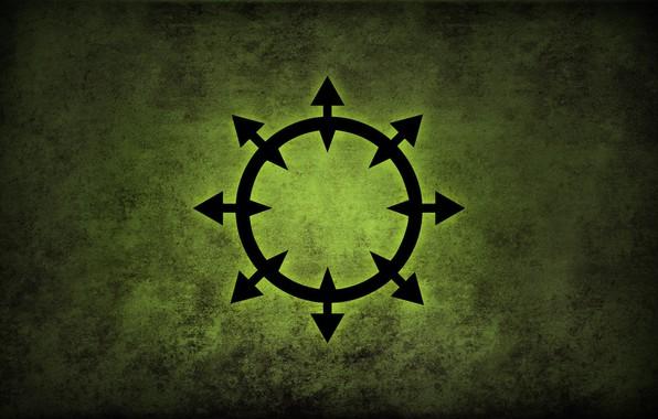 Picture green, logo, Warhammer, chaos, fon