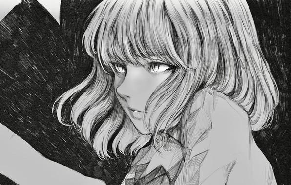 Picture girl, background, figure, portrait, anime