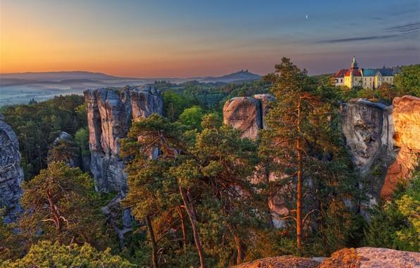Picture Morning, The liberec region, Sedmihorky, Hrubá Skála, Karlovice
