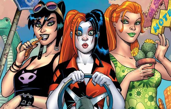 Picture Girls, Look, Plant, Glasses, Smile, Eyes, Comic, Brunette, Catwoman, Brunette, The wheel, Red, Smile, Girls, …