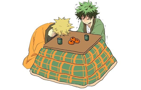 Picture table, guys, Boku No Hero Academy, Midori Isuku, My Hero Academy, Bakuga Katsuki