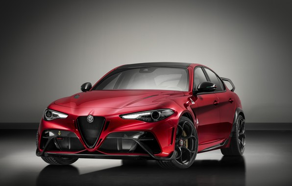 Picture grey, background, Alfa Romeo, Giulia, GTAm, 2020