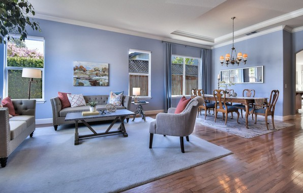 Picture interior, living room, dining room, Cambria Way, Santa Rosa