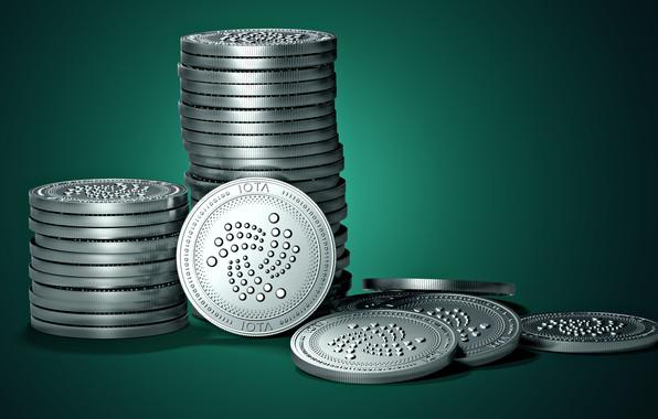 Picture logo, fon, coins, IOTA, iota, tention, iota, Iota