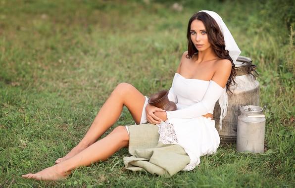 Picture girl, legs, photo, photographer, model, brunette, portrait, Anna Shuvalova