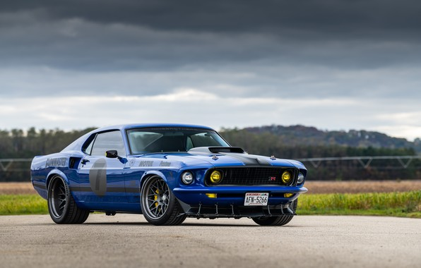 Picture Ford, Road, 1969, Lights, Ford Mustang, Muscle car, Mach 1, Classic car, Sports car, HRE …