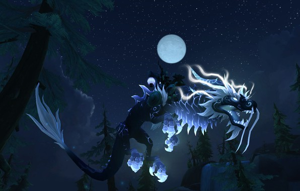 Picture WoW, Mount, Mist of Pandaria, World of WarCraft, Heavenly Onyx Cloud Serpent, Reins of the …