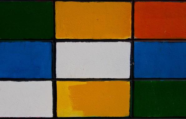 Picture texture, bricks, colorful