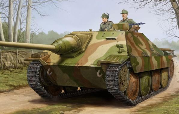 Picture SAU, tank fighter, self-propelled artillery, Hetzer, German light, Jagdpanzer 38(t)