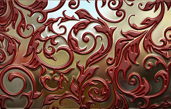 Picture metal, texture, ornament, painting, thread, casting, gilding