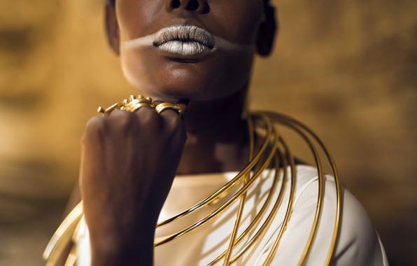 Picture model, ring, makeup, fashion, black