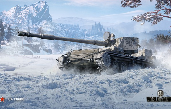 Picture winter, WoT, World of Tanks, Wargaming, SU-130ПМ
