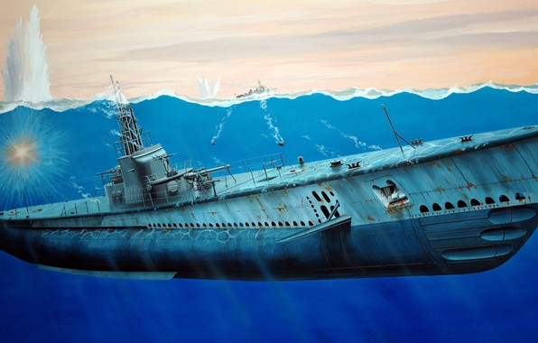 Picture USA, submarine, USS Gato, Diesel-electric, Gato-Class Submarine