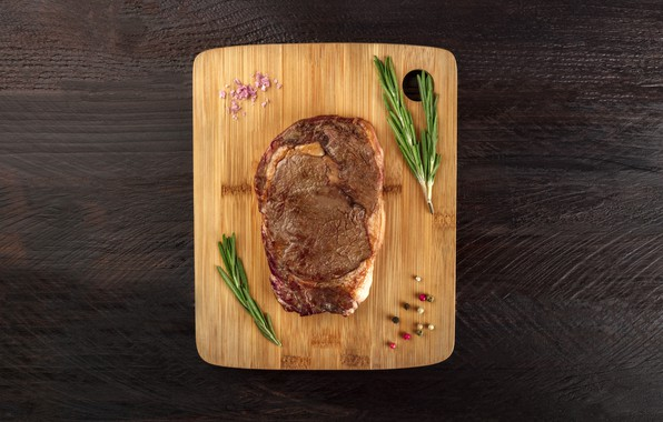 Picture table, meat, cooked, rosemary