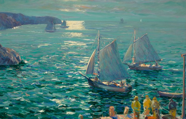 Picture oil, Jonas Lie, On the Wings of the Morning