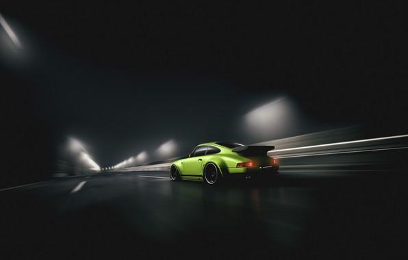 Picture Auto, Road, Porsche, Green, Machine, Movement, The tunnel, Sports car, Blind Sarathonux, NFS 2015, Porsche …