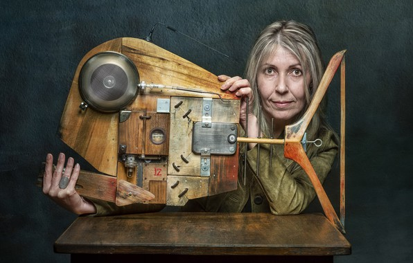 Picture woman, portrait, aparat