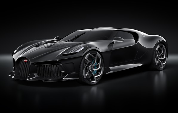Picture machine, lights, Bugatti, drives, stylish, hypercar, The Black Car