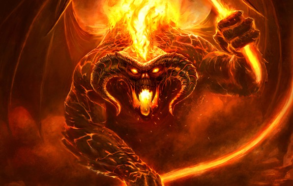 Lord Of The Rings Fire Demon