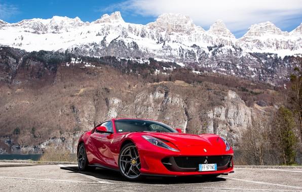 Picture Ferrari, mountain, Superfast, 812
