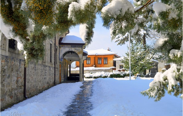 Picture Home, Winter, Snow, Winter, Snow