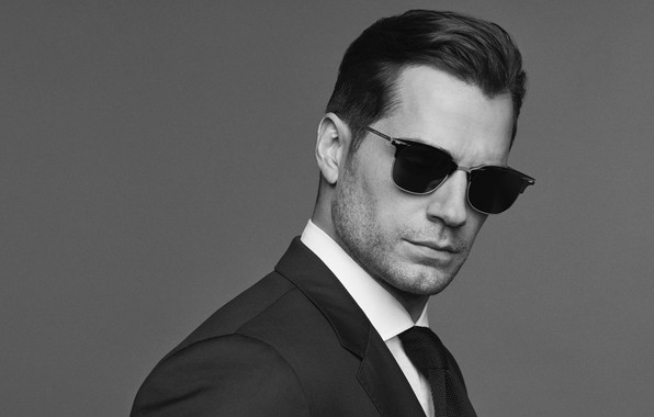 Picture face, photo, glasses, black and white, male, Henry Cavill