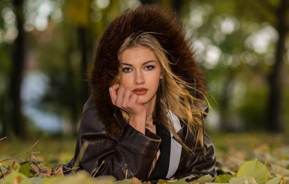 Picture autumn, look, girl, makeup, jacket, Ivan Niznicki