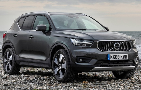 Picture car, grey, lights, Volvo, Volvo, drives, front, side, grey, stylish, crossover, Volvo XC40 Inscription, Volvo …
