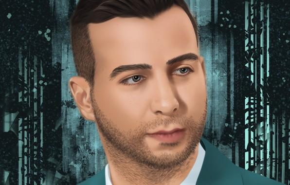 Picture Portrait, Photoshop, Ivan Urgant, Computer graphics, Evening Urgant, Digital drawing