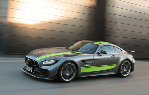 Picture Mercedes-Benz, speed, AMG, PRO, GT R, 2019