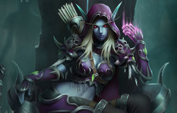 Picture WOW, Blizzard, Art, World of WarCraft, WarCraft, Silvana, Sylvanas Windrunner, Fanart, Sylvanas, WarCraft 3, Windrunner, …