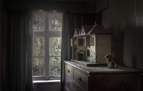 Picture house, room, window