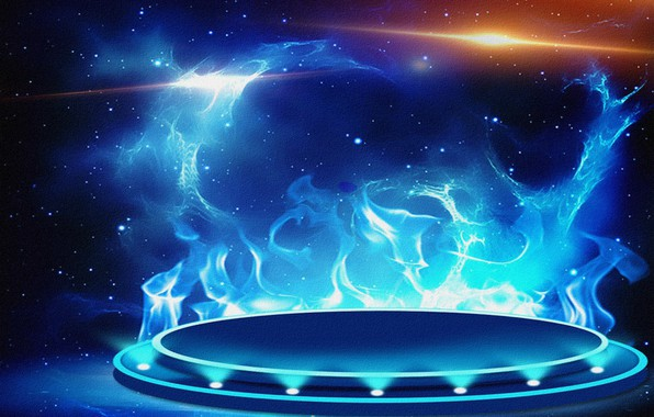 Picture abstraction, background, fiction, fire, Wallpaper, figure, canvas, widescreen, flash, blue flame, acrylic paint, gas burner