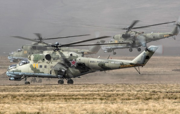 Picture The Russian air force, OKB M. L. Mil, Mi-24P, Russian attack helicopter